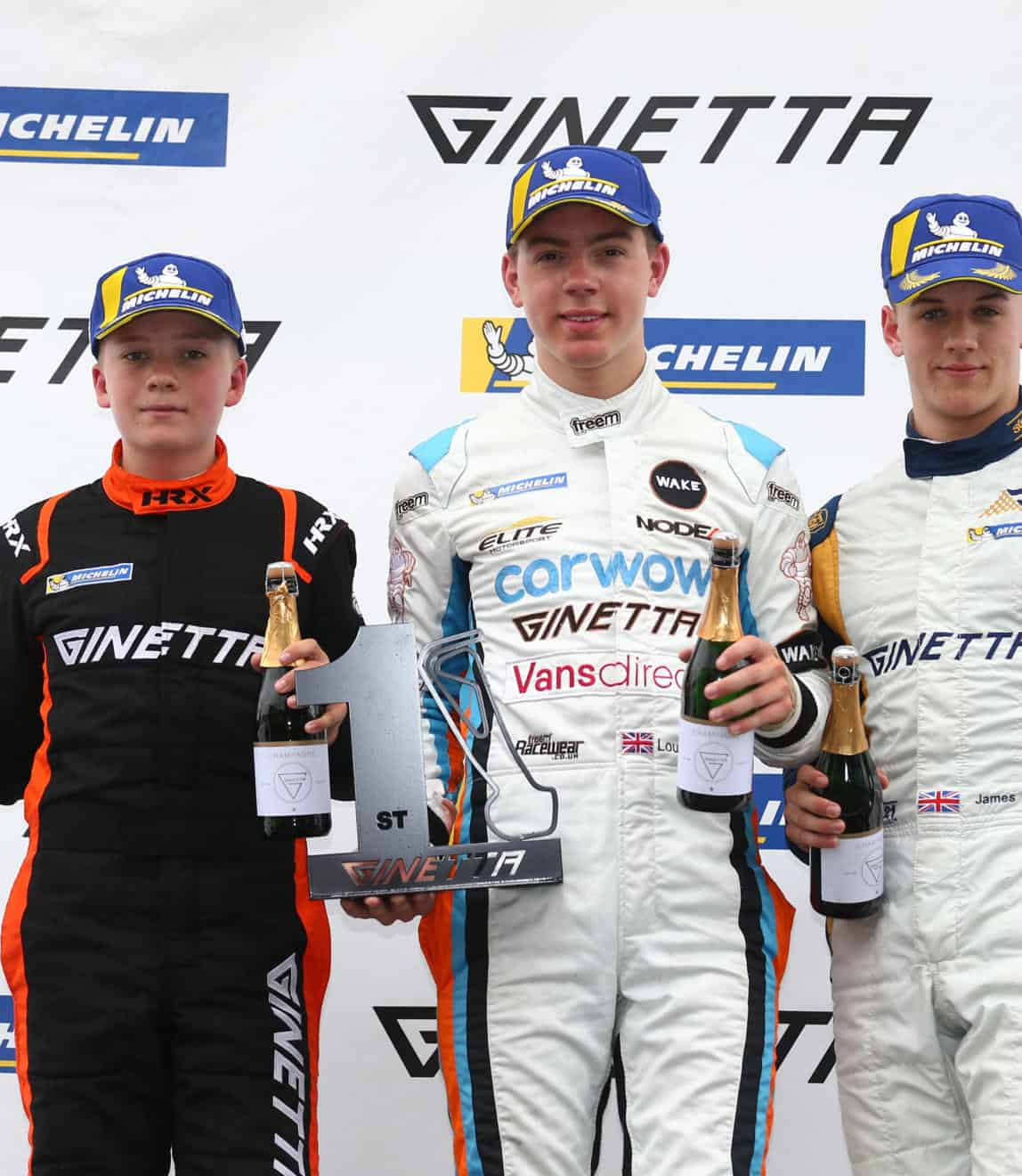 Ginetta Junior podium